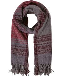 White Stuff - Sarah Check Midweight Fringe Scarf - Lyst