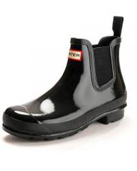 HUNTER - Original Chelsea Gloss Ladies Boot - Lyst
