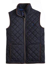 Joules - Penbury Fleece Quilted Mens Gilet (w) - Lyst