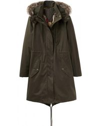 Joules - Brodie Faux Wax Womens Parka (x) - Lyst