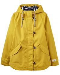 Joules Coast Womens Waterproof Jacket A/w - Yellow