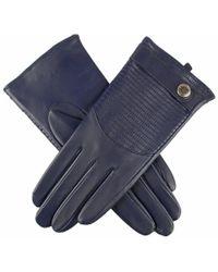 Dents Freya Quilted Hairsheep Ladies Glove - Blue