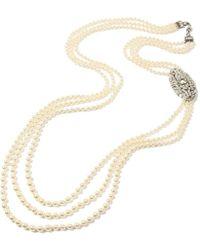 Ben-Amun - Belle Epoque Long Multi-strand Necklace With Deco Pendant - Lyst