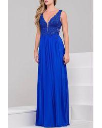 Jovani - Sheer Neckline Embroidery Beaded Prom Dress Jvn41466 - Lyst