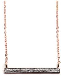 Rachael Ryen - K Rose Gold Diamond Bar Necklace - Lyst