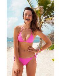 Voda Swim - Neon Pink String Bikini Bottom - Lyst