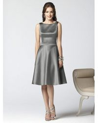 Dessy Collection - 2852 Dress In Charcoal Gray - Lyst