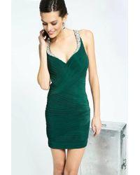 Jovani - Stunning Evening Mini Dress With Jeweled Straps Jvn - Lyst