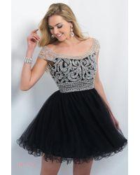 Blush Lingerie - Jeweled Off-shoulder Tulle Cocktail Dress - Lyst