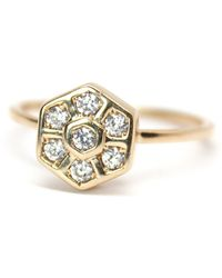 Rachael Ryen - Honeycomb Gold Ring - Lyst
