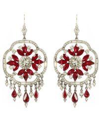 Ben-Amun - Ruby Deco Crystal Earrings - Lyst