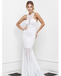 Baccio Couture - Milly - Painted Long Dress - Lyst