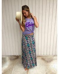 Tysa - Wrap Skirt In Purple Rain - Lyst