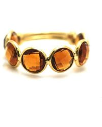 Trésor - Citrine Stackable Ring Bands With Adjustable Shank In K Yellow Gold - Lyst