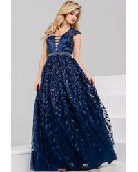 Jovani | Embroidered V-neck Ball Gown Jvn | Lyst