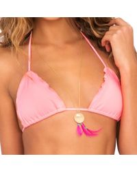 Luli Fama - Cosita Buena Wavey Triangle Top In Pink Sunsets (l) - Lyst