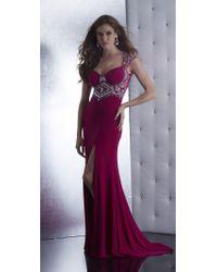 Jasz Couture - Dress In Dark Fuschia - Lyst