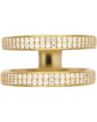 Rachael Ryen - Layered Pave Ring - Gold - Lyst