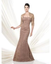 9eacbb1fd79 Lyst - Mon Cheri Ivonne D By Long Mikado Fit And Flare Evening Dress ...