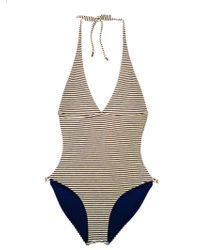 Leah Shlaer Swimwear - The Coco-c One Piece In Paris Stripes - Lyst