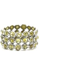 Trésor - Rose Cut Organic Diamond Triple Row Ring Band In K White Gold - Lyst