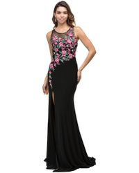 Couture Candy - Scoop Neck With Embroidered Floral Applique Dress - Lyst