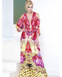 Baccio Couture - Monique Silk Long Dress - Lyst