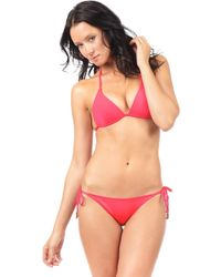 Voda Swim - Hot Coral Envy Push Up String Bikini Top - Lyst