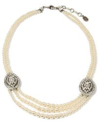 Ben-Amun - Double Take Crystal And Pearl Necklace - Lyst
