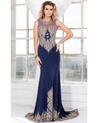 Shail K - Long Illusion Embellished Gown - Lyst