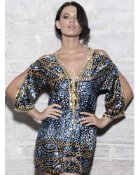 Baccio Couture | Ross - Silk Short Dress | Lyst