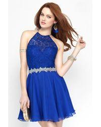 Alyce Paris - Short Dress In Sapphire - Lyst