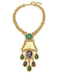 Ben-Amun - Gypset Malachite Drop Statement Necklace - Lyst