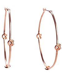 Avanessi - Knot Hoops Earrings - Lyst