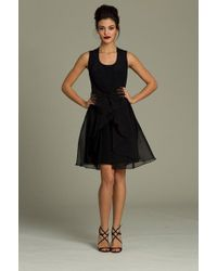 Jovani - 72692 Chiffon Overlay Sleeveless Short Black Dress - Lyst