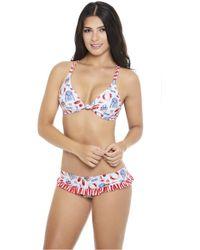 AlmaMia Swimwear - Coqueto Knot Top T - Lyst