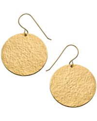 Heather Hawkins - Large Hammered Disc Earrings - Lyst