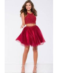 Jovani - Spectacular Two-piece Dress With Gleaming Embellishments Jvn - Lyst