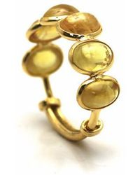 Trésor - Yellow Sapphire Stackable Ring Bands In K Yellow Gold - Lyst