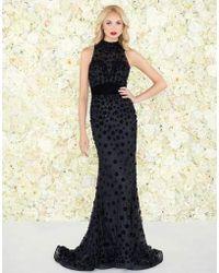 Mac Duggal - Black White Red - 66589r Stone Embellished Trumpet Dress - Lyst