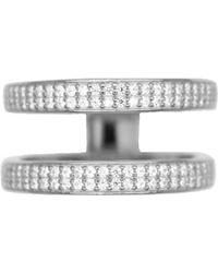 Rachael Ryen - Layered Pave Ring - Silver - Lyst