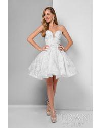 Terani - Crystallized Sweetheart Babydoll Dress P - Lyst