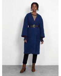A Detacher - Cyprian Knitted Cuff Coat - Lyst