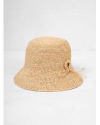 Mature Ha. - Raffia Hat Short Ornament - Lyst