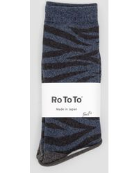 RoToTo - Zebra Socks - Lyst