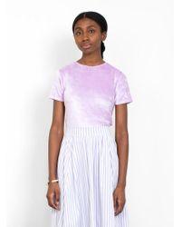 Baserange - Omo Velour T-shirt - Lyst