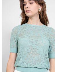 Minä Perhonen - Flower Dance Cotton Knit Top - Lyst