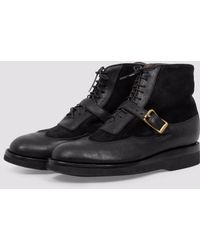 Yuketen - Wingtip Boots With Strap - Lyst