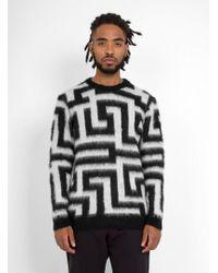 YMC | Maze Crew Neck Sweater | Lyst