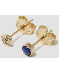 Mociun - Mismatched Lapis Circle Earrings - Lyst